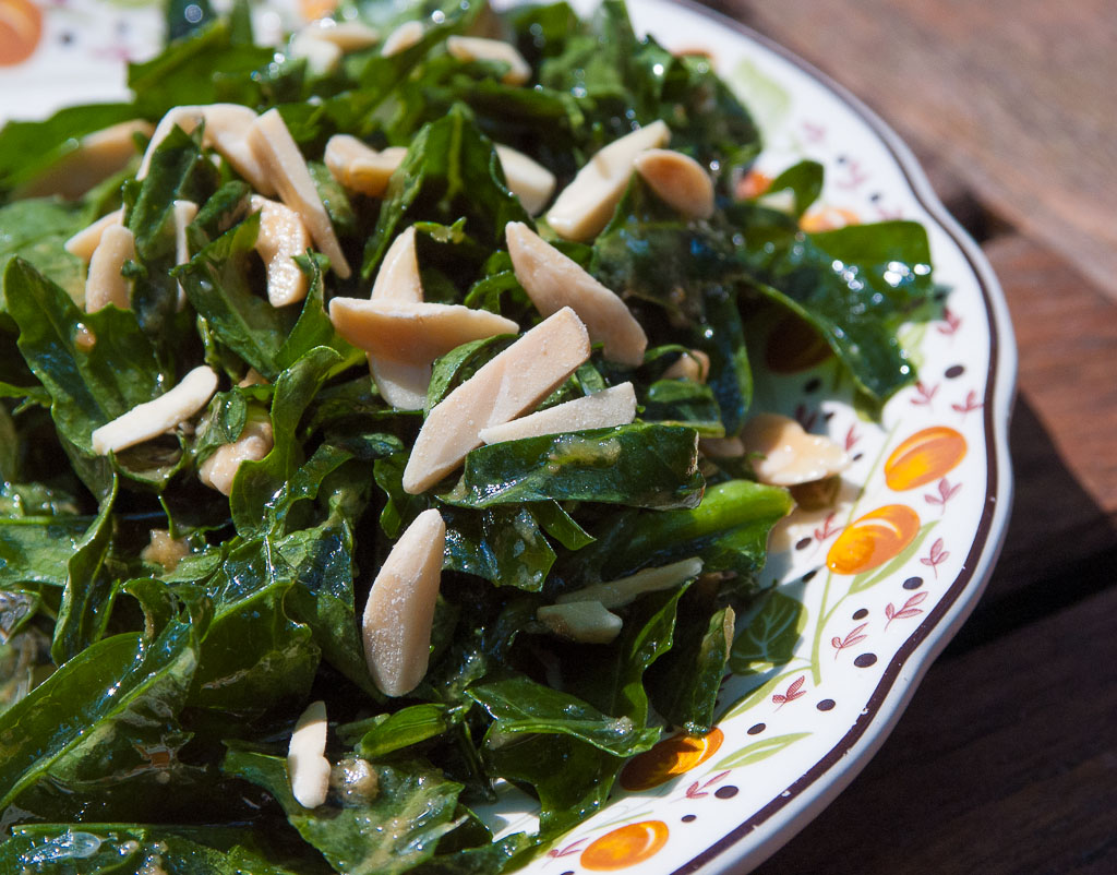 Kale Salad With Miso And Lime Vinaigrette